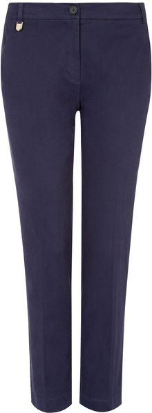 Aquascutum Slim Fit Cropped Trouser - Lyst