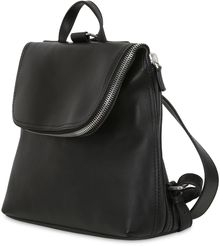 Giorgio Armani Leather Backpack - Lyst