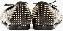 Saint Laurent Black Mini_studded Ballet Flats - Lyst