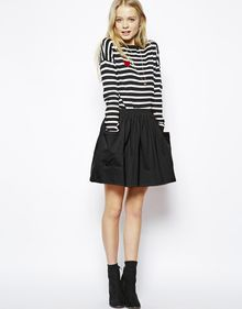 Asos Skater Skirt with Pockets - Lyst