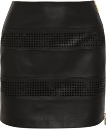 Emanuel Ungaro Cutout Leather Mini Skirt - Lyst
