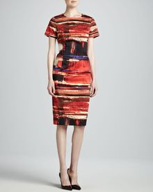 Carolina Herrera Artprint Twill Dress - Lyst