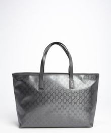 Gucci Grey Leather Trimmed Imprime Ssima Large Tote - Lyst