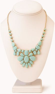Forever 21 Sleek Cluster Bib Necklace - Lyst