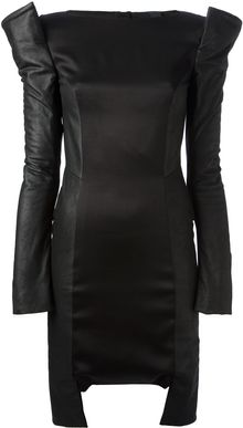 Gareth Pugh Sculpted Shoulder Dress - Lyst