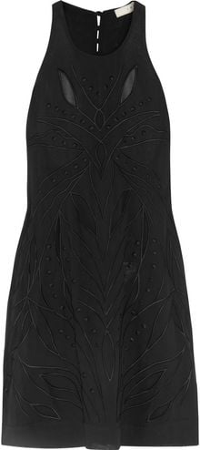Iro Irene Embroidered Crepe De Chine Mini Dress - Lyst