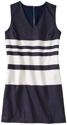 Gap Stripe Vneck Dress - Lyst