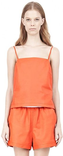 Alexander Wang Leather Square Neck Camisole - Lyst