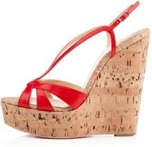 Christian Louboutin Wedgy Lady - Lyst