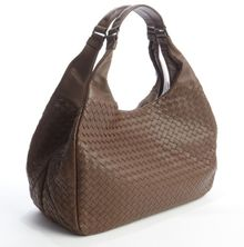 Bottega Veneta Brown Intrecciato Leather Campana Large Hobo - Lyst