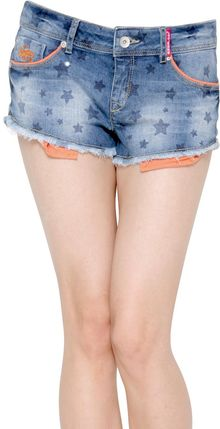 Superdry Printed Stretch Japanese Denim Shorts - Lyst