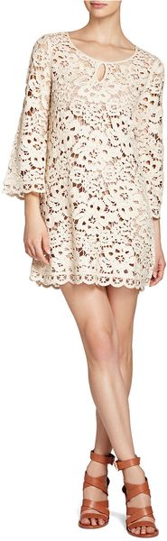 BCBGMAXAZRIA Tianya Crochet Tunic Dress - Lyst