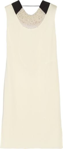 Vionnet Embellished Stretchsilk Dress - Lyst