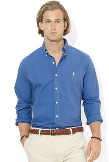 Ralph Lauren Polo Customfit Poplin Sport Shirt - Lyst