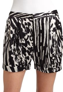 By Malene Birger Silk Print Shorts - Lyst