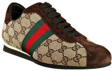 Gucci Beige Gg Canvas Web Stripe Sneakers - Lyst