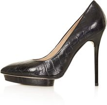 Topshop Soda Croc Platform Court Shoes - Lyst