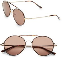 Tom Ford Samuele Round Sunglasses - Lyst
