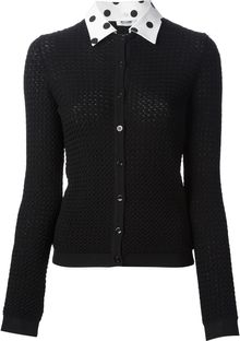 Moschino Cheap & Chic Dotted Collar Cardigan - Lyst