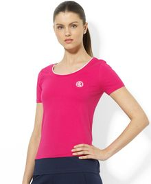 Lauren by Ralph Lauren Crewneck Colorblocked Tee - Lyst