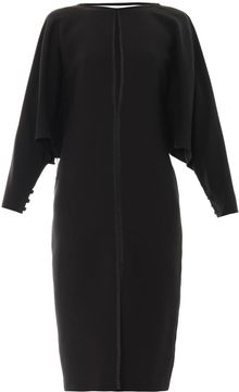 Gucci Longsleeved Silkcrepe Dress - Lyst