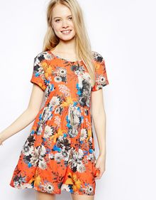 Pepe Jeans Floral Dress with Lace Back Detail - Lyst