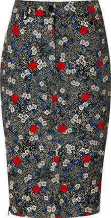 Opening Ceremony Wood Print Jean Skirt - Lyst
