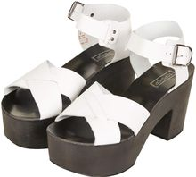Topshop Naive Cross Through Sandals - Lyst