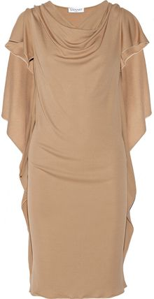 Vionnet Draped Jerseycrepe Dress - Lyst
