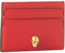 Alexander McQueen Leather Skull Card Holder - Lyst