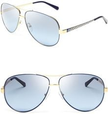 Tory Burch Aviator Sunglasses - Lyst
