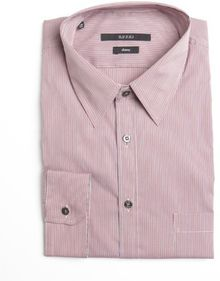 Gucci Red and White and Blue Check Cotton Point Collar Dress Shirt - Lyst