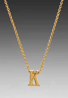Gorjana Alphabet Initial Necklace in Metallic Gold - Lyst