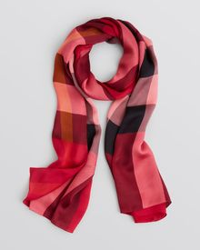 Burberry Core Check Oblong Silk Scarf - Lyst