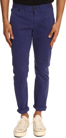 Paul Smith Tapered2 Indigo Blue Trousers - Lyst