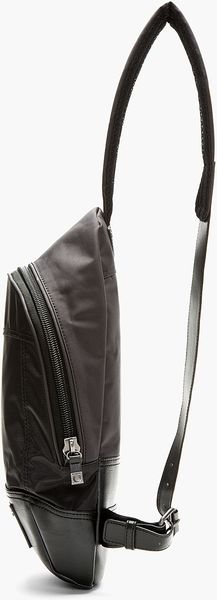 Diesel Black Canvas Elliptical The Brave Messenger Bag - Lyst