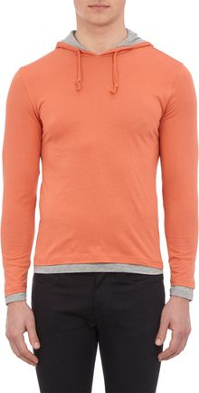 Barneys New York Layered Pullover Hoody - Lyst