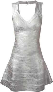 Hervé Léger Flared Bandage Dress - Lyst