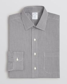 Brooks Brothers Micro Gingham Dress Shirt - Lyst