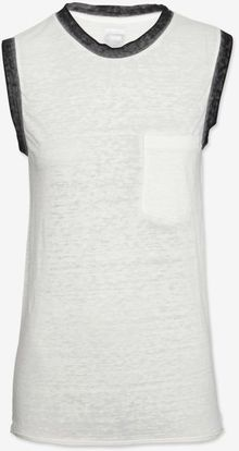Nsf Clothing Contrast Trim Burnout Tank - Lyst