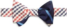 Brooks Brothers Red Seersucker Check with Navy and Light Blue Bb3 Repp Stripe Reversible Bow Tie - Lyst