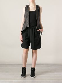 Rick Owens Darted Leather Gilet - Lyst