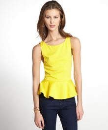 Alice + Olivia Stretch Ponte Knit Peplum Sleeveless Top - Lyst