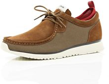 River Island Brown Clarks Hybrid Tawyer Lace Ups - Lyst