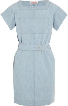 See By Chloé Belted Denim Mini Dress - Lyst