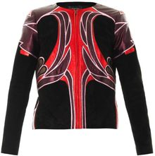 Gucci Art Nouveau Flower Leather Jacket - Lyst