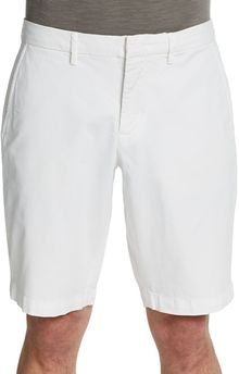 Vince Cotton Twill Trouser Shorts - Lyst