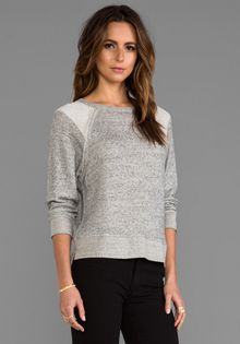 Enza Costa Japanese Terry Raglan in Gray - Lyst