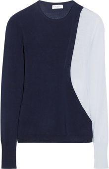 Vionnet Colorblock Fineknit Merino Wool Sweater - Lyst