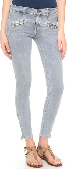 Current/Elliott The Soho Zip Stiletto Jeans - Lyst